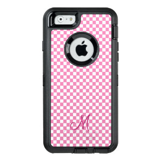 Pink Monogram Check Pattern OtterBox iPhone Case