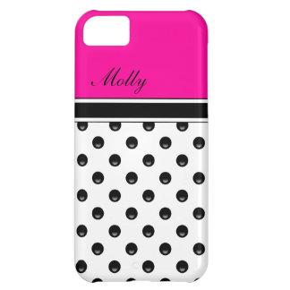 Pink Monogram iPhone 5C Cases