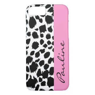 Pink Monogram iPhone Case