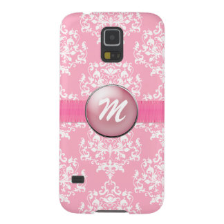 Pink Monogram Samsung S5 Phone Case