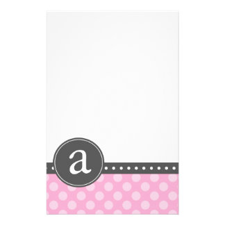 Pink Monogram Stationery Paper