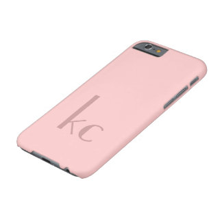 Pink monogram typogtaphy barely there iPhone 6 case