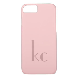 Pink monogram typogtaphy iPhone 7 case
