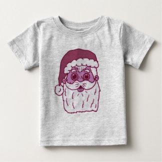 Pink Monotone Santa Claus Baby T-Shirt