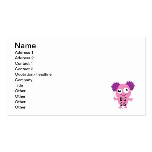 Pink Monster Big Sister Business Card