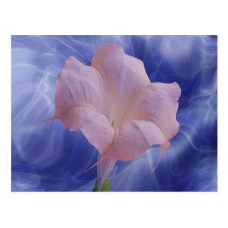 Pink Moon Flower Postcard