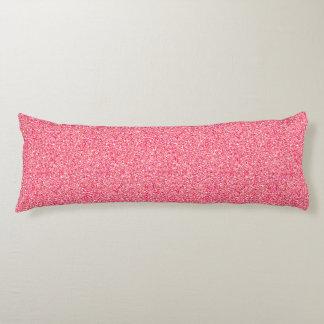 Pink Moondust Glitter Pattern Body Pillow