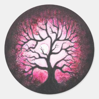 Pink Moonlit Ghost Tree Stickers