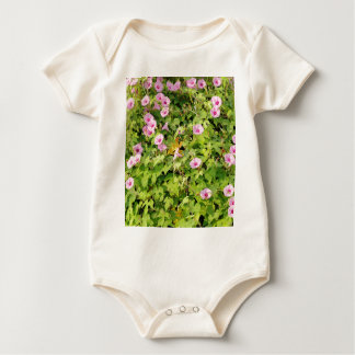 Pink Morning Glories Bush Baby Bodysuit