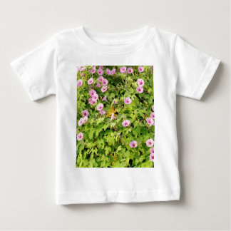 Pink Morning Glories Bush Baby T-Shirt