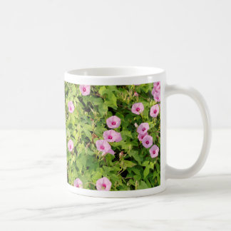 Pink Morning Glories Bush Coffee Mug