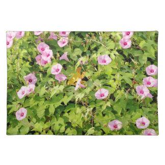 Pink Morning Glories Bush Placemat