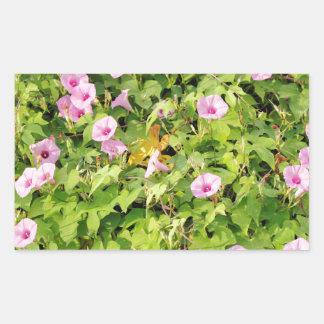 Pink Morning Glories Bush Sticker