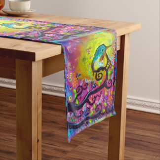 Pink Morning Hummingbird Table Runner