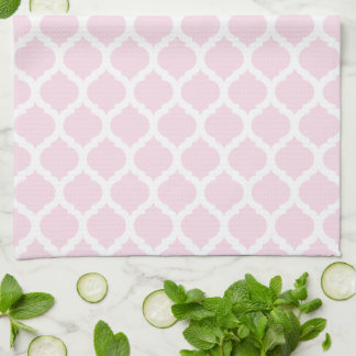 Pink Moroccan Pattern Kitchen Towels