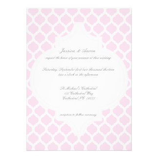 Pink Moroccan Pattern Wedding Invitations