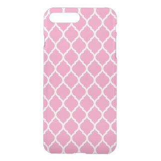 Pink Moroccan Quatrefoil iPhone 7 Plus Case