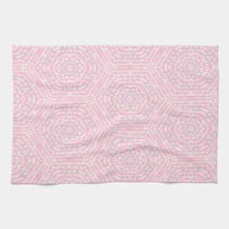 Pink Mosaic Pattern Kitchen Towel