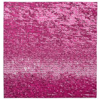 Pink mosaic pattern printed napkin