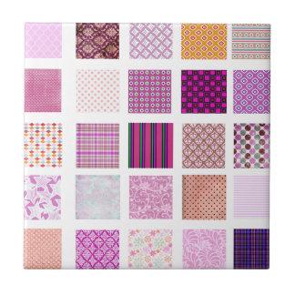 Pink Mosaic pattern Tile