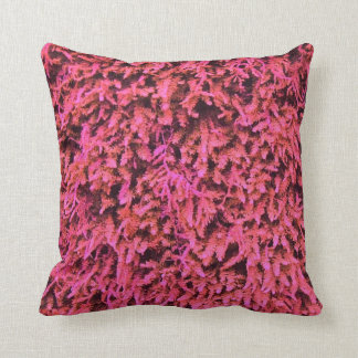Pink moss pattern pillow