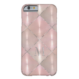 Pink Mother of Pearl with SilverMonogram Barely There iPhone 6 Case