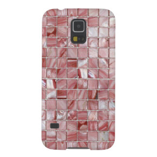 Pink Mother of Pearls Tile Patterns Galaxy S5 Covers