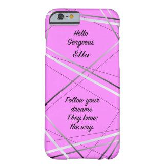 Pink, motivational, customisable iPhone case