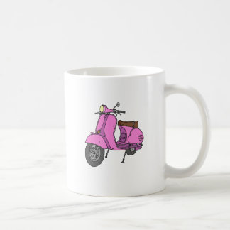 Pink Motor Scooter Coffee Mug