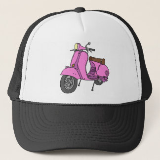 Pink Motor Scooter Trucker Hat