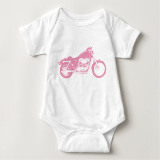 Pink Motorcycle Baby Bodysuit