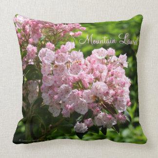 Pink Mountain Laurel Flowers Throw Pillow
