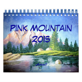 Pink Mountain Painting 2016 Calendar Small 2 Page