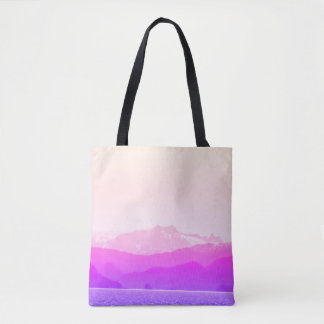Pink Mountains Tote