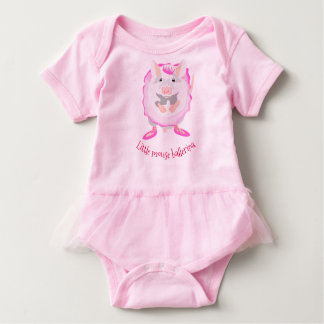 Pink mouse ballerina baby outfit baby bodysuit