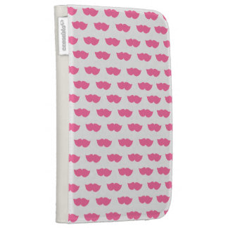 Pink Moustaches Case For Kindle