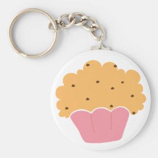 Pink muffin pattern keychain