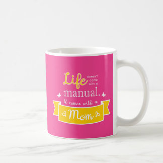 Pink Mug with a Quote for Mom