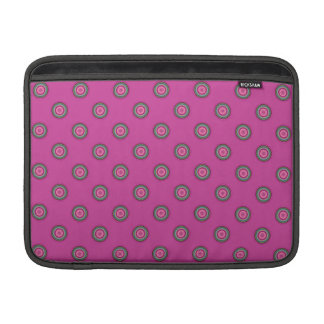 Pink Multicolored Circular Pattern Sleeve For MacBook Air