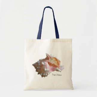 Pink Murex Seashell Tote Bag
