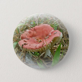 Pink Mushroom Coordinated Items 2 Inch Round Button