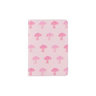 Pink Mushroom Passport Holder