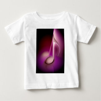 Pink music note baby T-Shirt