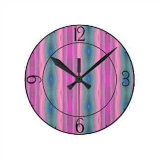 Pink Music Round Clock