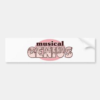 Pink Musical Genius Bumper Sticker