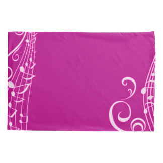 Pink Musical Notes Inspiration Pillowcase