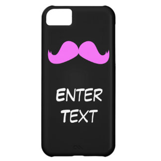 Pink Mustache - Customize your iPhone 5 case