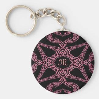 Pink mystery Gothic monogram M Keychain