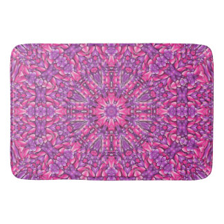 Pink n Purple Kaleidoscope Bath Mats
