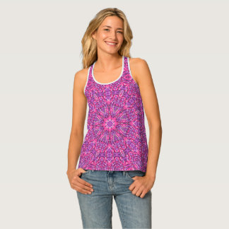 Pink n Purple Kaleidoscope  Racerback Tank Top